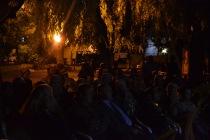 projection de photographies anciennes à Ortahisar